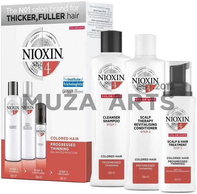 3-СТУПЕНЧАТАЯ СИСТЕМА NIOXIN №4 (150 мл) Для окрашенных истонченных волос