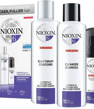 3-СТУПЕНЧАТАЯ СИСТЕМА NIOXIN №6 (300 мл) для химически обработанных истонченных волос