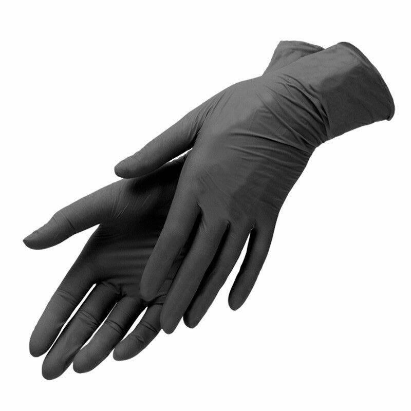 Перчатки нитриловые черные размер L Benovy